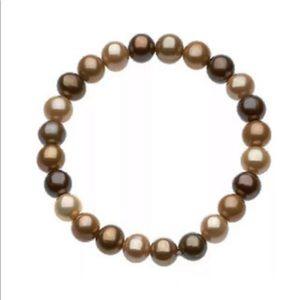 Chocolate Pearl Stretch Bracelet